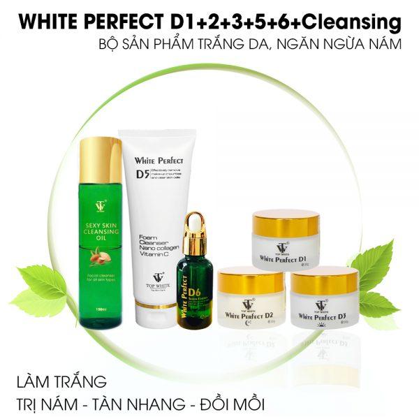 Top White trọn bộ sản phẩm trị nám trắng da